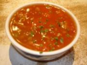 Rindfleisch-Tomatensuppe - Rezept