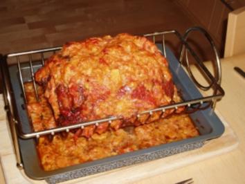 Rostbeef mit Kräuter-Zwiebel-Käsekruste - Rezept