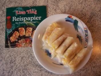 Rezept: Vegetarische Frühlingsrolle mit Käse