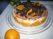 Marmorierte Orangentorte - Rezept