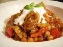 Schnelle Gemüse-Kichererbsen-Pfanne - Rezept