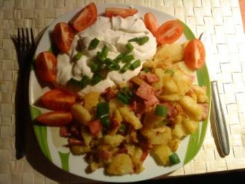 Rezept: Bratkartoffeln mit Quark