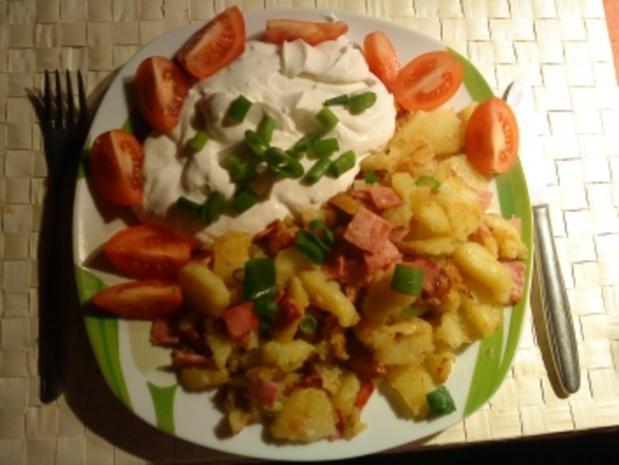 Bratkartoffeln mit Quark - Rezept