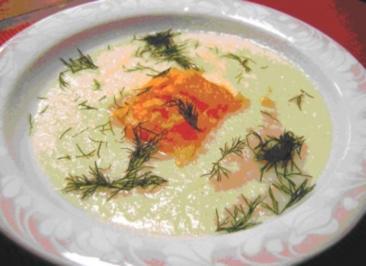 Sellerieschaum mit Lachseinlage - Rezept