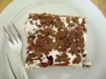 Rezept: Schwarzwälder Kirsch Schnitten