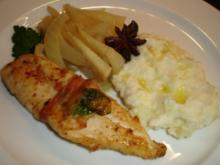 Fischfilet im Pancetta-Mantel mit gewürztem Fenchel - Rezept