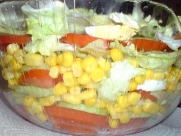 Schichtsalat mit Thunfischsoße - Rezept - Bild Nr. 2