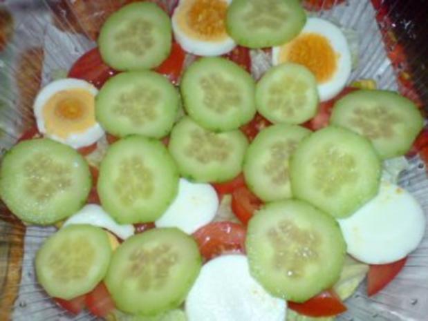 Schichtsalat mit Thunfischsoße - Rezept - Bild Nr. 6