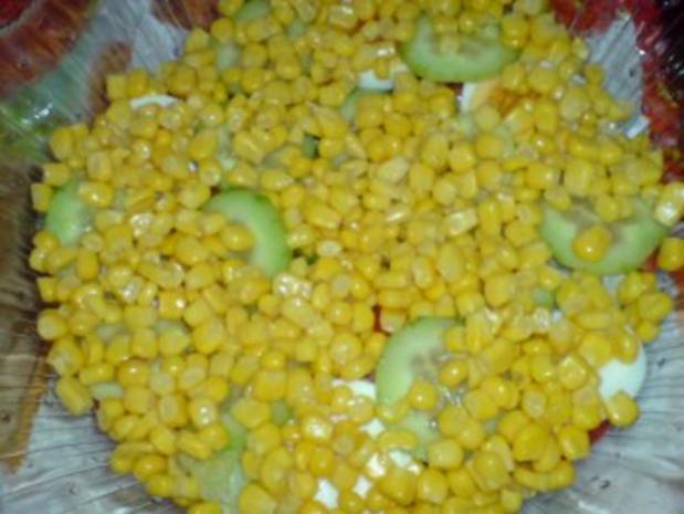 Schichtsalat mit Thunfischsoße - Rezept - Bild Nr. 7