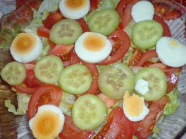 Schichtsalat mit Thunfischsoße - Rezept - Bild Nr. 8