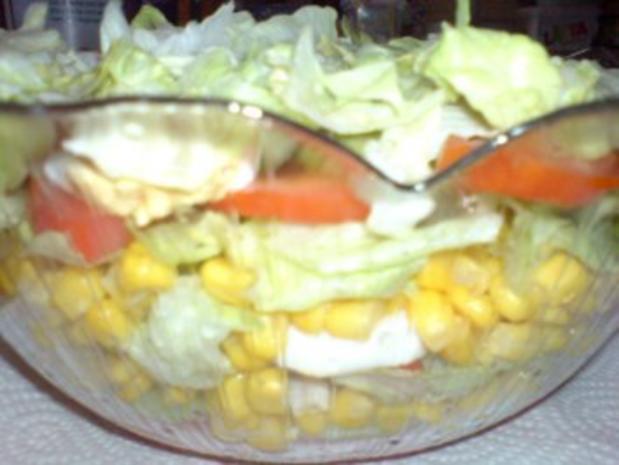 Schichtsalat mit Thunfischsoße - Rezept - Bild Nr. 9
