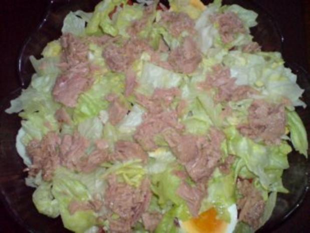 Schichtsalat mit Thunfischsoße - Rezept - Bild Nr. 11
