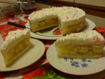 Ananas-Bananen-Torte - Rezept