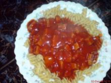 Tomatensoße ala Mama mit Nudeln - Rezept