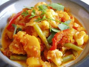 Currygemüse- Blitzrezept ☺ - Rezept