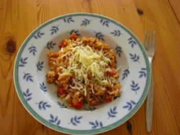 Hackfleisch-Paprika-Risotto - Rezept