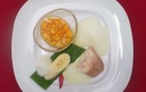 Schwäbischer Eisgugelhupf mit Vanilleschaum und Mango-Chili-Ragout - Rezept