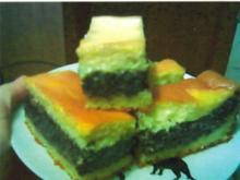 Mohnkuchen mit Eierschecke - Rezept