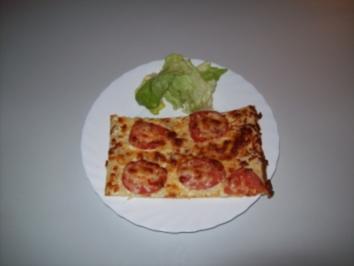 Rezept: Frischkäse - Tomaten Pizza