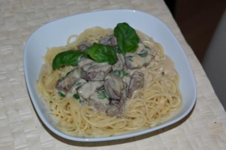 Spaghetti mit Rindfleisch und Basilikum - Rezept