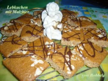 Lebkuchen: Lebkuchen mit Malzbier - Rezept