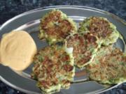 Zucchini-Puffer als vegetarische Hauptspeise oder Beilage - Rezept