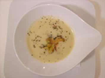 Kartoffelsuppe mit Cranberries, Pfifferlingen und Rosmarin - Rezept