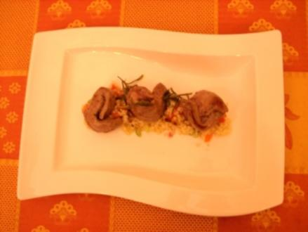 Kräuter-Lammfilet mit Bulgur - Rezept