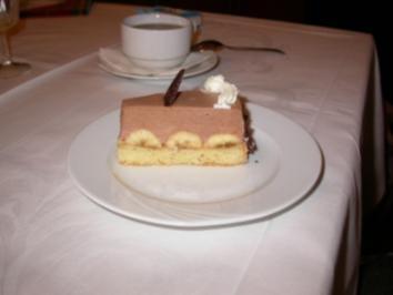 Schoko Bananen Cognac Torte - Rezept