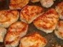 Schweinefilet mit kandierten Zwiebelchen dazu Kartoffelgratin - Rezept