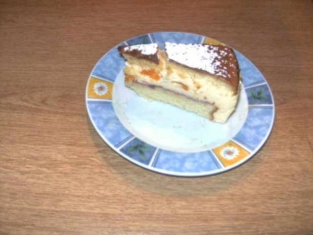 Luftige Biskuit-Torte mit Quarkfüllung - Rezept