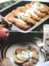 Schweinekotletts auf flämische Art  mit Äpfel und Creme Fraiche - Rezept