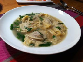 Wan Tan Suppe - Rezept