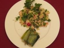 Couscous-Salat mit Merguez im Lauchbeutel - Rezept