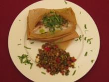 Rotbarsch oriental au paquet mit lauwarmem Linsensalat - Rezept
