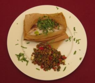 Rezept: Rotbarsch oriental au paquet mit lauwarmem Linsensalat