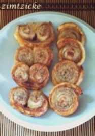 Zimt-Vanille-Schweinsöhrchen / -Schnecken - Rezept