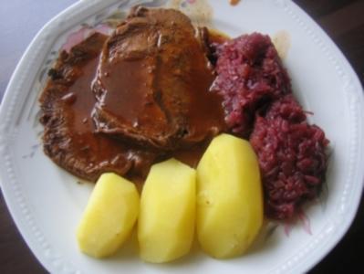 Rinderbraten in Biersoße - Rezept