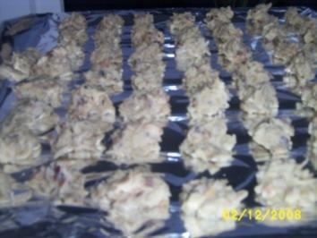 Mandelblättchen Konfekt mit weißer Schokolade - Rezept