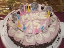 Geburtstagskuchen einmal anders (Biskuitteig mit Erdbeersahne) - Rezept