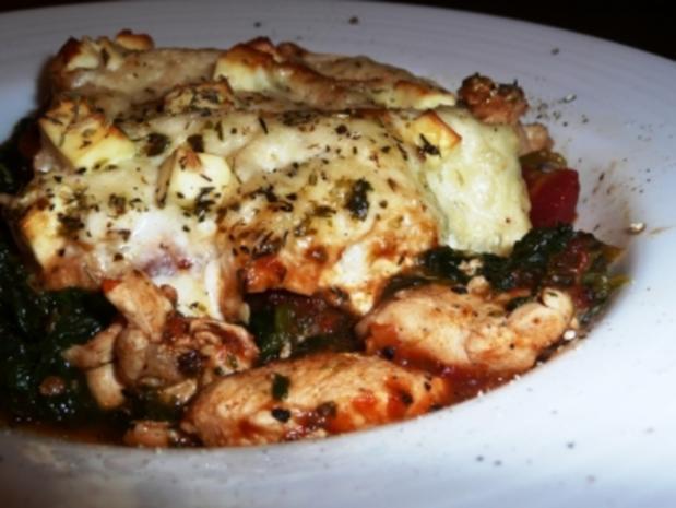 Huhn-Spinat Lasagne auf die leichte Art - Rezept