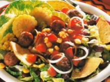 Mexikosalat mit Hackbällchen - Rezept