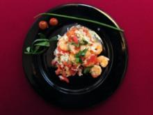 Garnaaltjes in de Estragon-Knoflook-Tomaten-Rijst (Simone Rethel Heesters) - Rezept