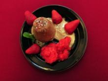 Selbstgemachtes Schokoladeneis und Erdbeersorbet (Simone Rethel Heesters) - Rezept