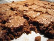 Kuchen: Lebkuchen-Schoko-Brownies - Rezept