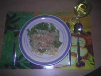 Nudeln - Bandnudeln mit Lachs-Soße - Rezept