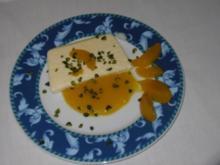 Tonkabohnenparfait mit Fruchtspiegel und Früchten nach Wahl - Rezept