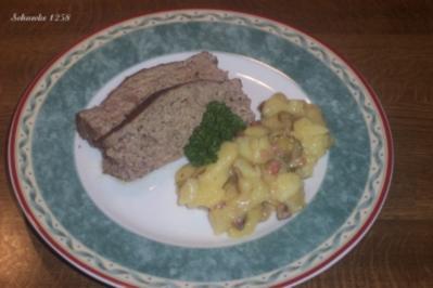 "Leberkäse ""Hausmacher Art"" mit Kartoffelsalat - Rezept"