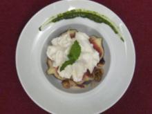 Ricotta-Feigen mit süßem Pesto und karamellisierten Nüssen - Rezept