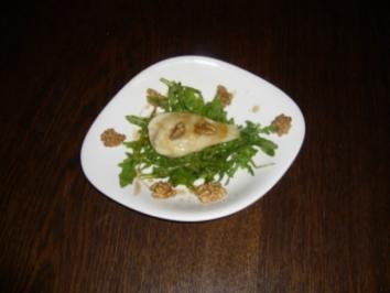 Amaretto-Käse-Birnen mit Walnuss - Rezept